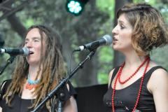 Performing as backing vocalist for Heather Frahn & The Moonlight Tide,  Womadelaide 2013