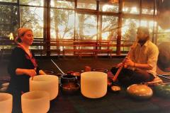 Soundbath at Yoga Garage, SA, 2016